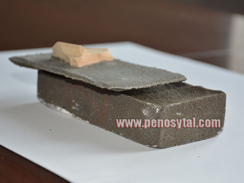 пеностекло и цементный раствор